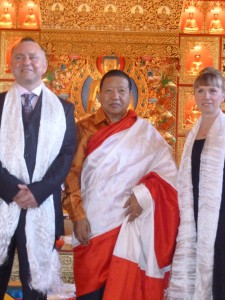 Akong Rinpoche married Jo & Dominic in 2011 At Samye Ling, Scotland