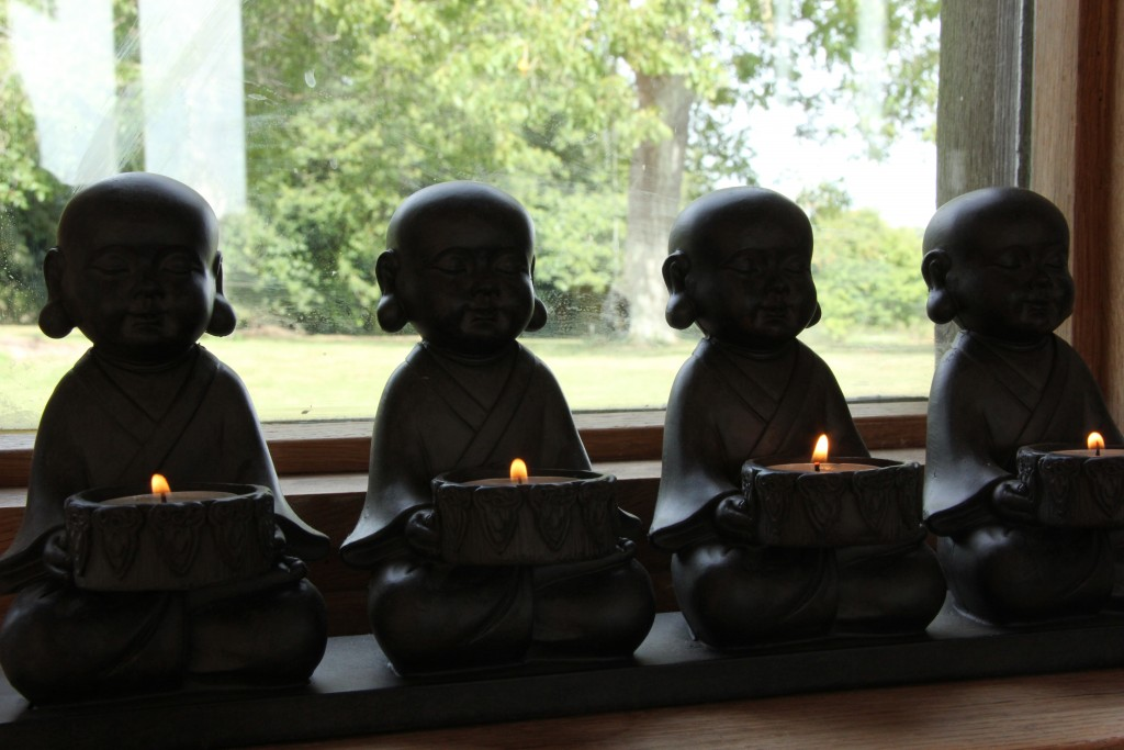 Candles in the Yoga Room